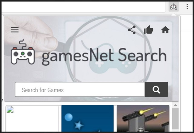 Remove GamesNet Search
